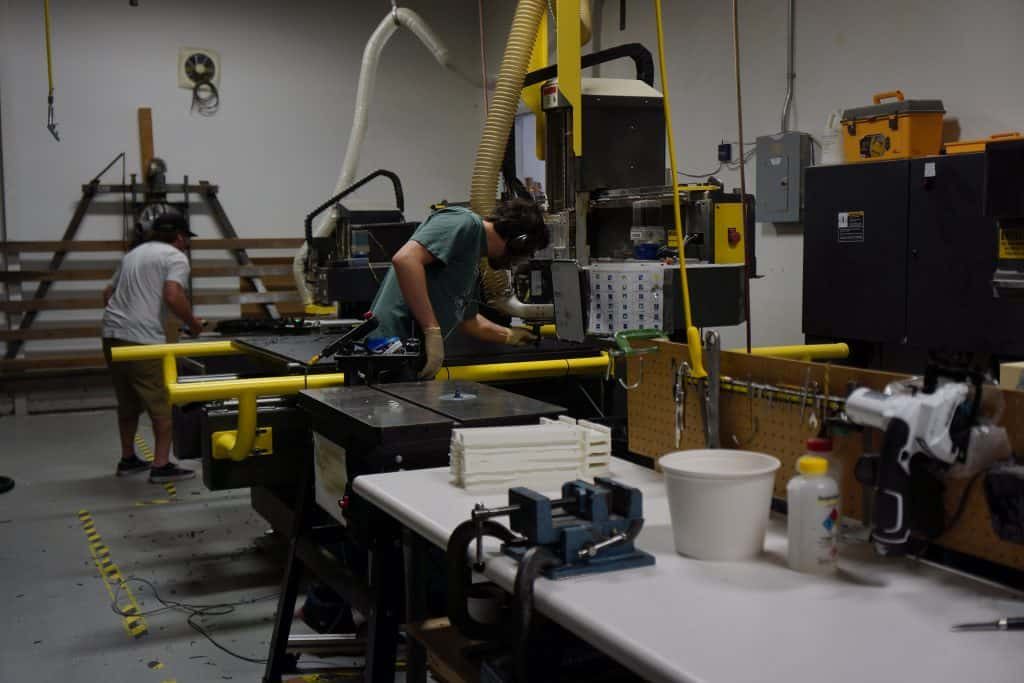 manufacturing on floor